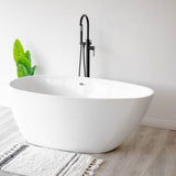 SevenFalls 8017 Single Handle Floor Mounted Tub Filler with Handheld Shower