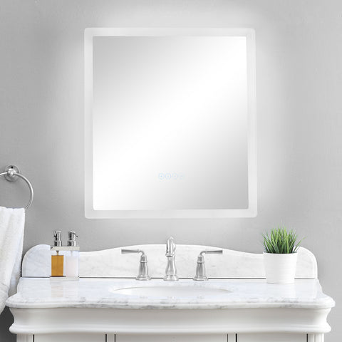 smartLED Illuminated Fog-Free Bathroom Mirror with Built-In Bluetooth Speakers and Dimmer