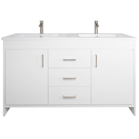 "Olivia 60"" Double Sink Freestanding Bathroom Vanity Set"