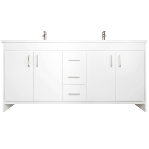 "Olivia 72"" Double Sink Freestanding Bathroom Vanity Set"