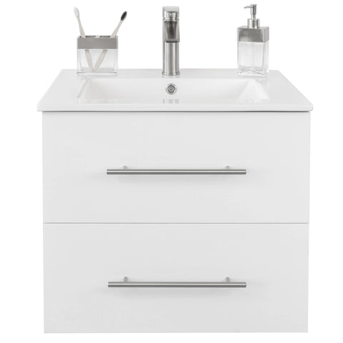 "Utopia 24"" Single Sink Wall-Mounted Bathroom Vanity Set"
