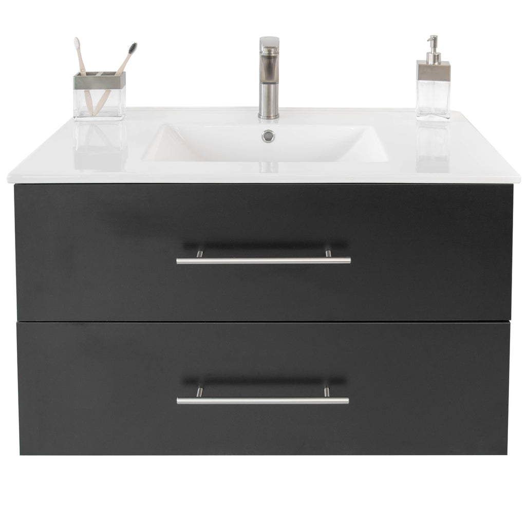 "Utopia 36"" Single Sink Wall-Mounted Bathroom Vanity Set"