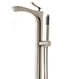 SevenFalls 8047 Single Handle Floor Mounted Tub Filler with Handheld Shower