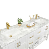 "Sophia 72"" Double Sink Bathroom Vanity Set"