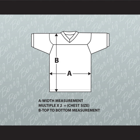 Size Chart for Hockey Jersey with Patch