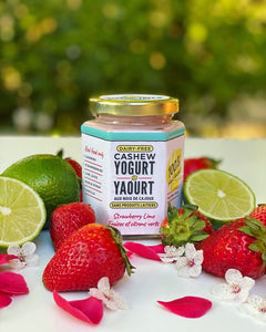 strawberry lime non-dairy dairy-free vegan plant-based cashew yogurt vancouver