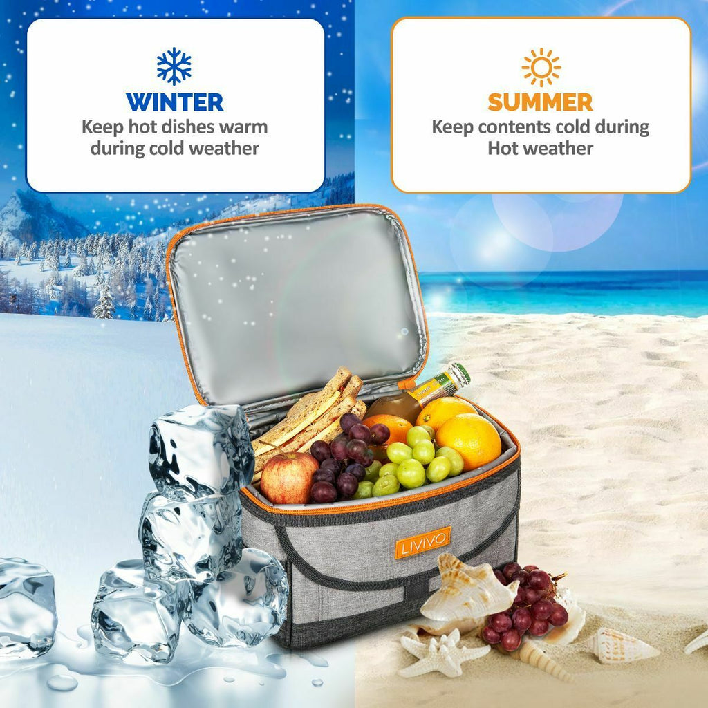 Premium Insulated Ice Bag Wine Cooler Picnic Storage Carrier
