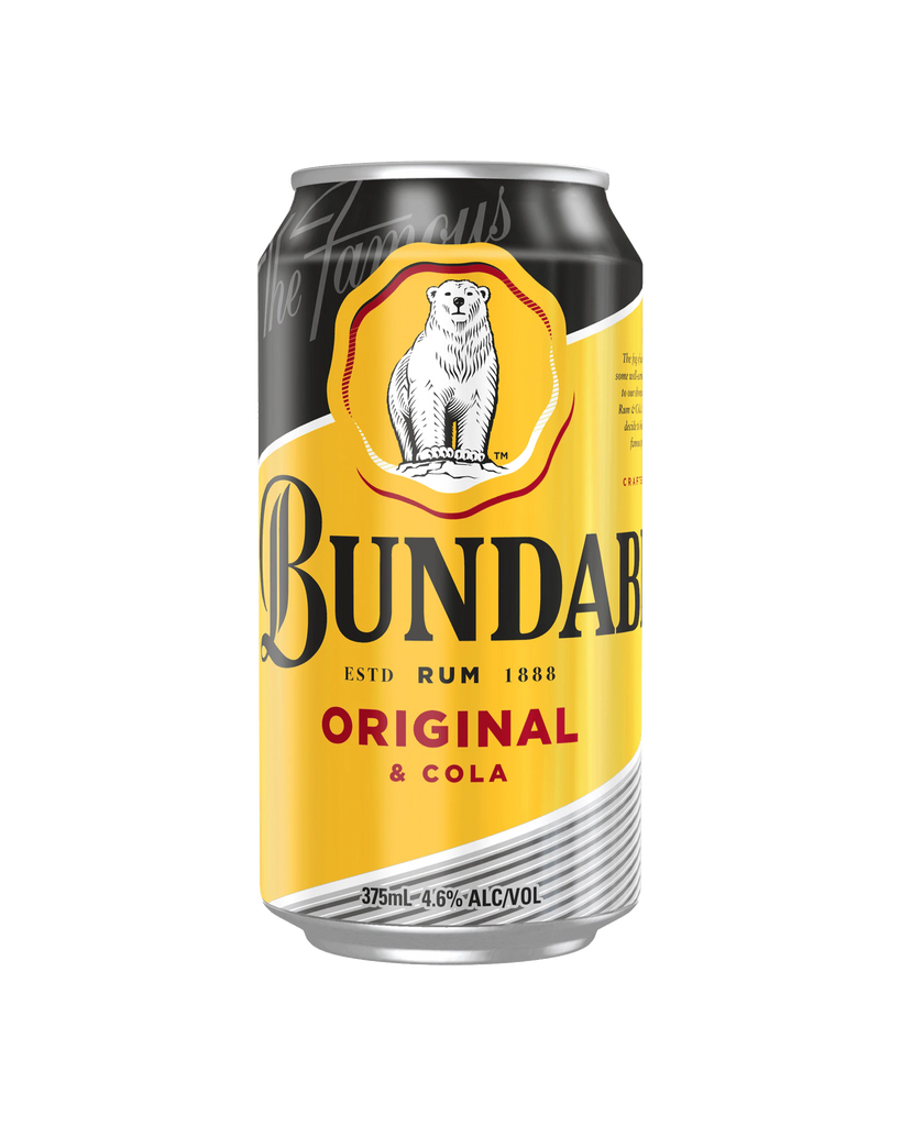 Bundaberg Original Rum & Cola Cans 375ml