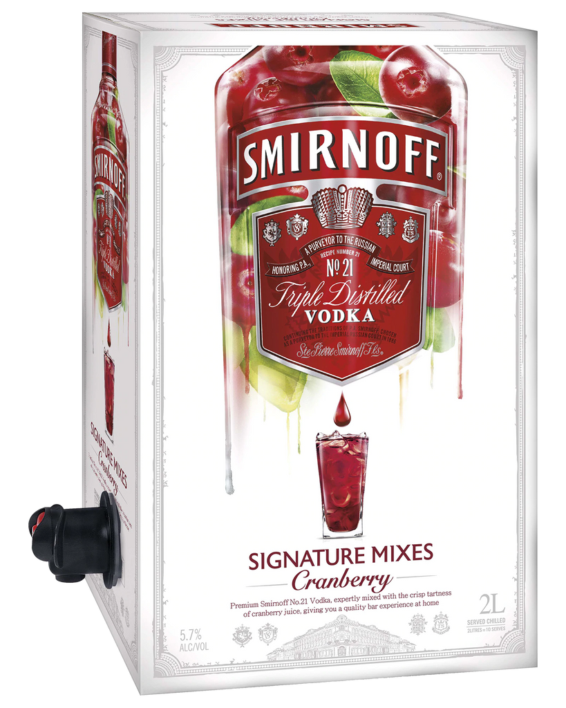 Smirnoff Signature Serves Cranberry 2L