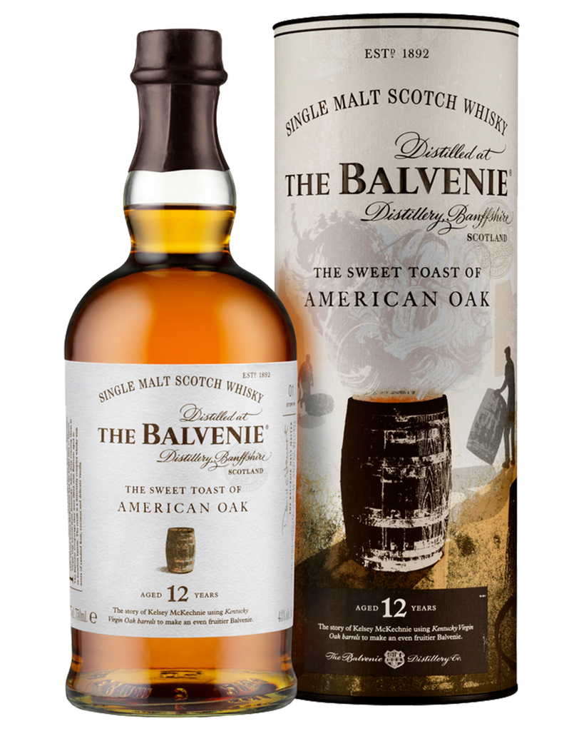 The Balvenie American Oak 12 Year Old Single Malt Scotch Whisky 700ml