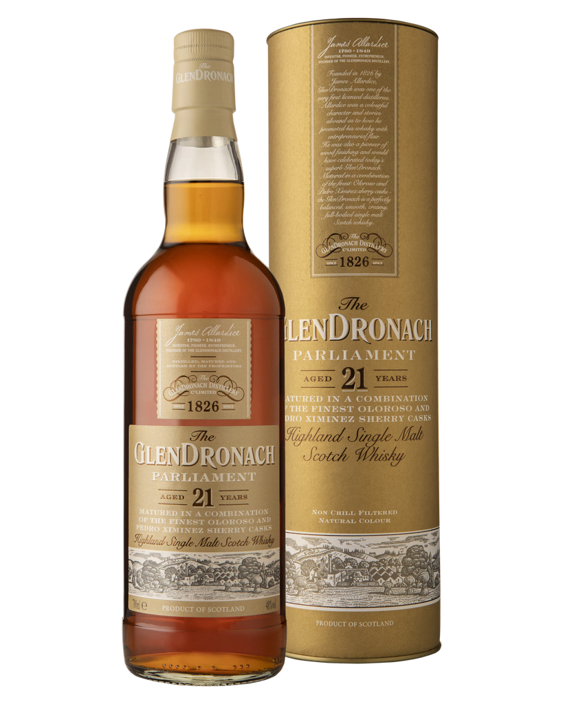 The GlenDronach 21 Year Old Parliament Single Malt Scotch Whisky 700mL