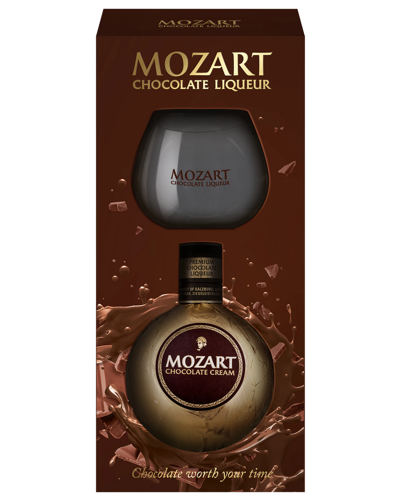 Mozart Chocolate Liqueur Glass Gift Pack 500ml