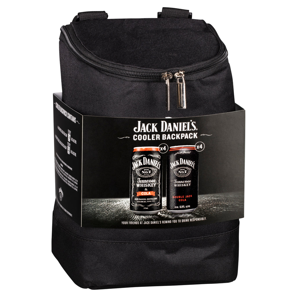 Jack Daniel's Cooler Backpack 8 Cans 375ml