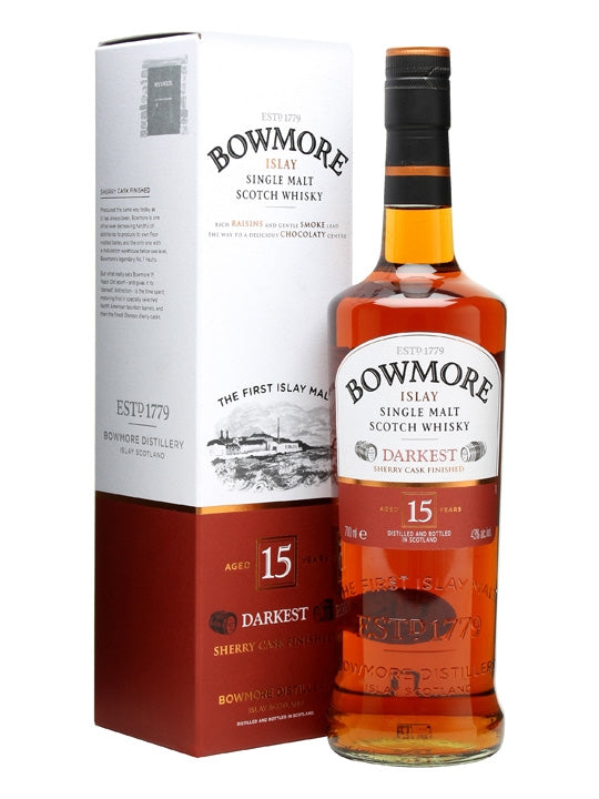 Bowmore 15 Year Old Single Malt Scotch Whisky 700ml