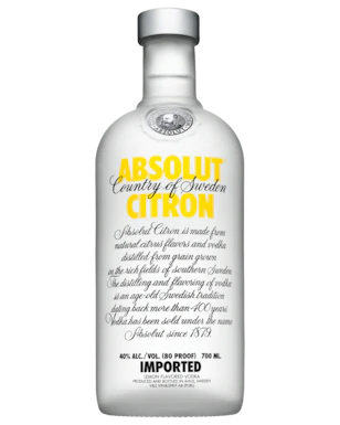 Absolut Citron Vodka 700ml - Boozeit.com.au