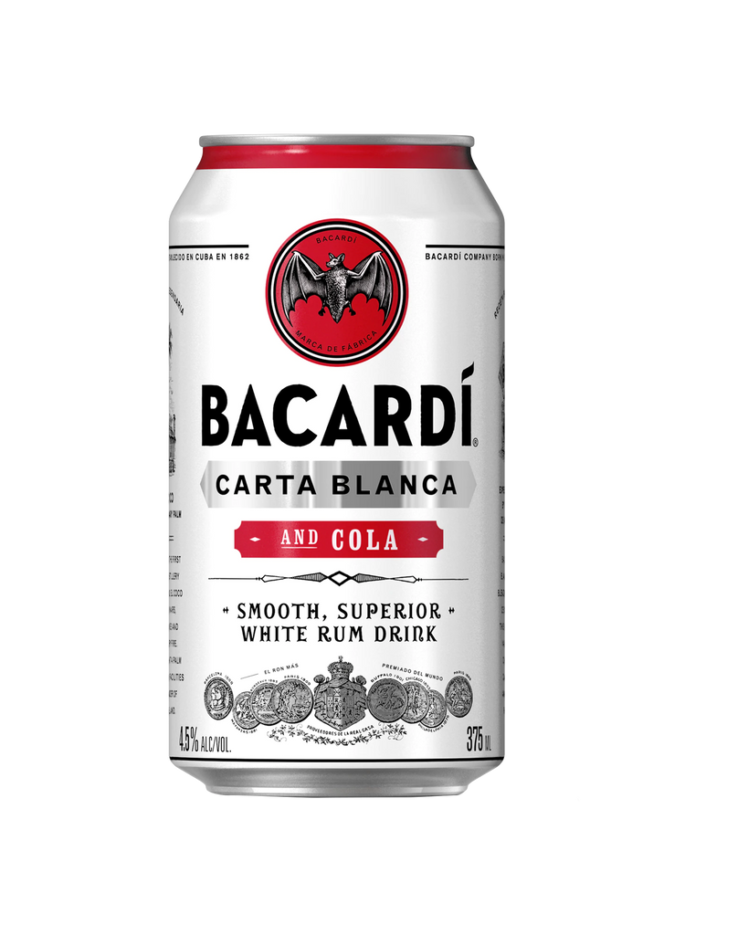 Bacardi Rum & Cola Cans 375ml