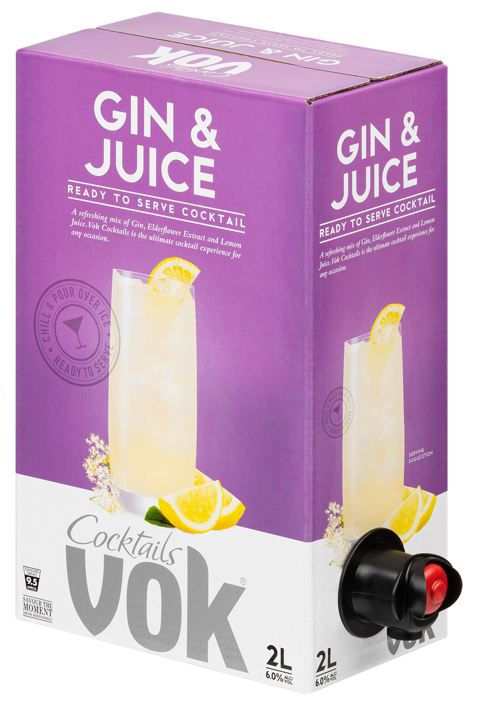 Vok Cocktails Gin & Juice 2L