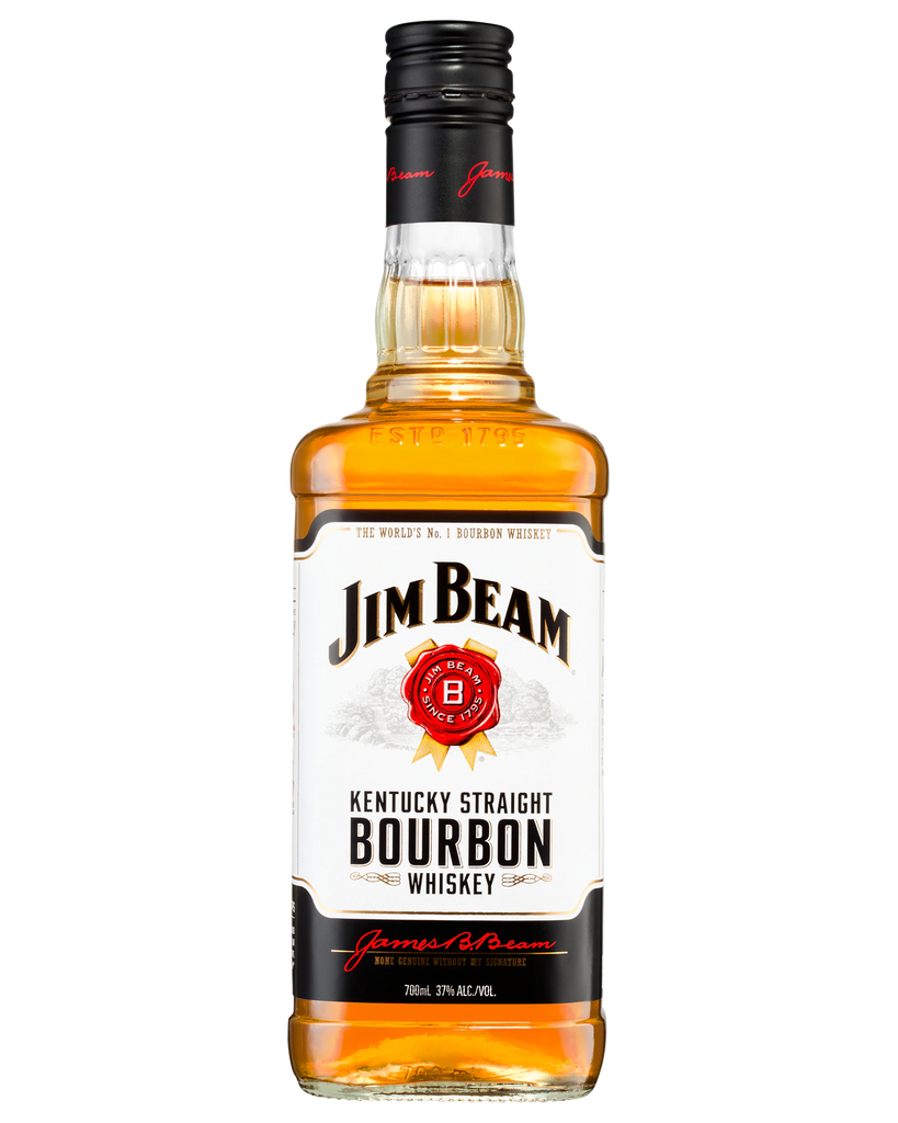 Jim Beam White Label Kentucky Straight Bourbon Whiskey 700ml - Boozeit.com.au