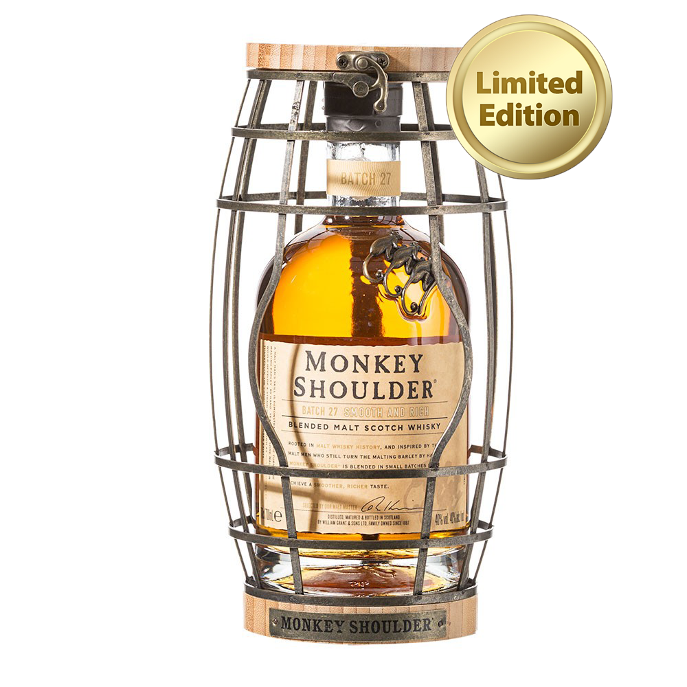 Monkey Shoulder Blended Malt Scotch Whisky Gift Box 700ml