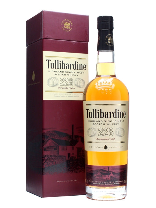 Tullibardine Highland 228 Burgundy Finish Single Malt Scotch Whisky 700ml