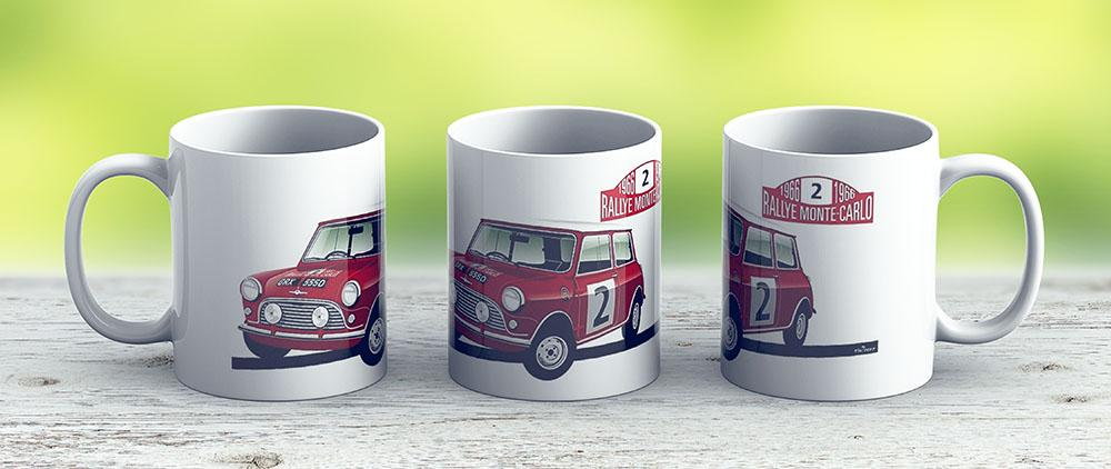1966 Rallye Monte Carlo - Ceramic Coffee Mug - Gift Idea For Family And Friends