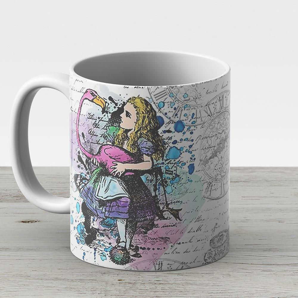 Alice In Wonderland Collage - Ceramic Coffee Mug - Gift Idea For Family And Friends