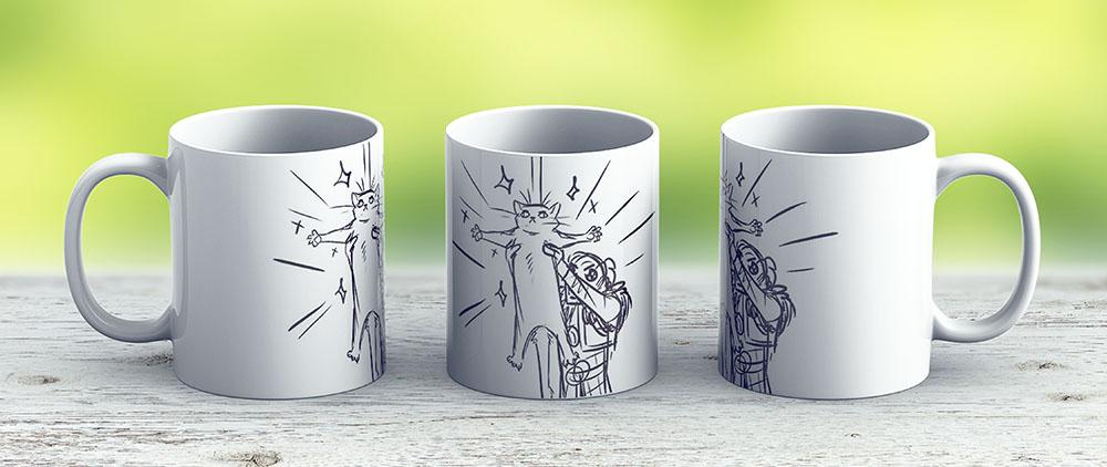 Anders And A Cat From Dragon Age 2 - Ceramic Coffee Mug - Gift Idea For Family And Friends