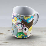 Animal Crossing New Leaf Tsum Tsum Pattern - Ceramic Coffee Mug - Gift Idea For Family And Friends
