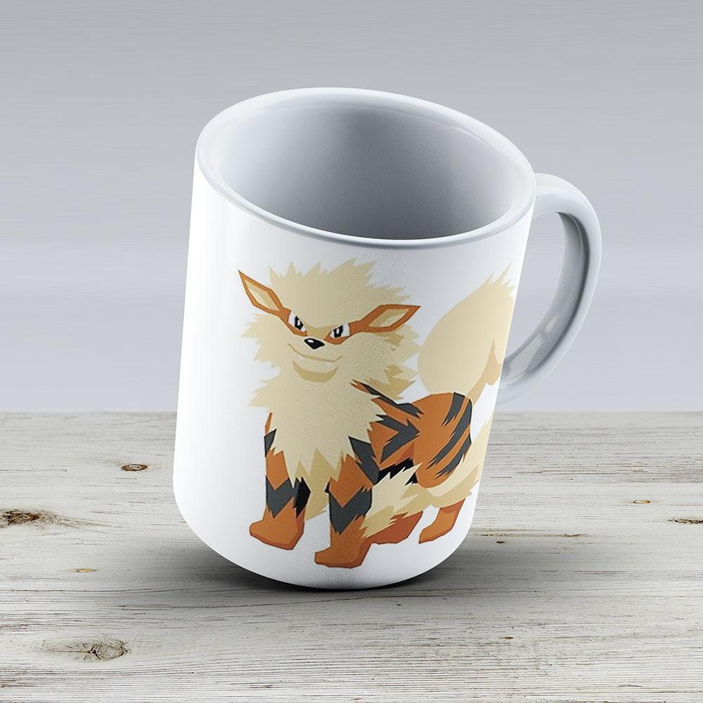 Arcanine Pokemon Simple No Borders - Ceramic Coffee Mug - Gift Idea For Family And Friends