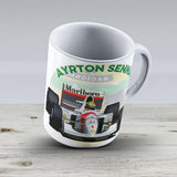 Ayrton Senna - Ceramic Coffee Mug - Gift Idea For Family And Friends