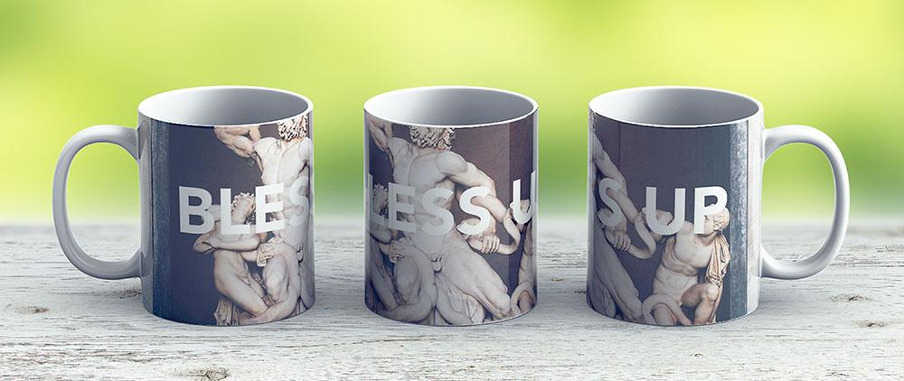 Bless Up -- Laocoon And His Sons - Ceramic Coffee Mug - Gift Idea For Family And Friends
