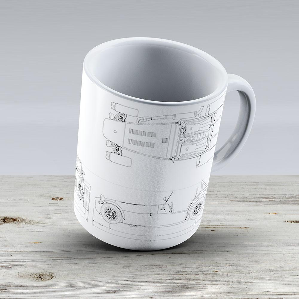 Caterham Seven Blueprint - Ceramic Coffee Mug - Gift Idea For Family And Friends