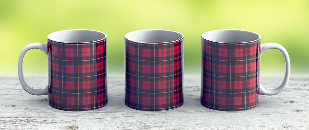 Clan Wallace Tartan - Ceramic Coffee Mug - Gift Idea For Family And Friends