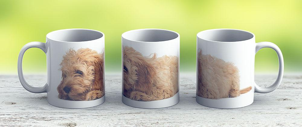 Cockapoo Puppy Laying Down - Ceramic Coffee Mug - Gift Idea For Family And Friends