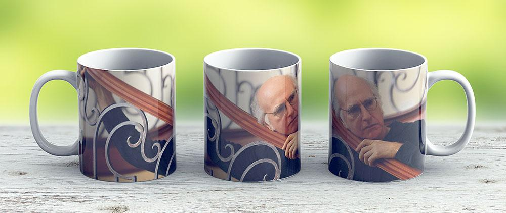 Curb Your Larry David - Ceramic Coffee Mug - Gift Idea For Family And Friends