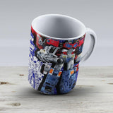 Cybertron Super Optimus Prime - Ceramic Coffee Mug - Gift Idea For Family And Friends