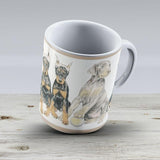 Doberman Puppies - Ceramic Coffee Mug - Gift Idea For Family And Friends