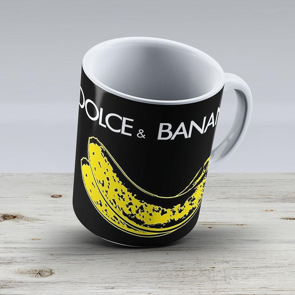 Dolce Banana - Bananas Lovers Fruitarians Vegan Fashion Tee Sticker - Ceramic Coffee Mug - Gift Idea For Family And Friends