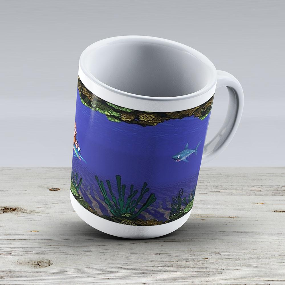 Donkey Kong Country - Underwater Level - Ceramic Coffee Mug - Gift Idea For Family And Friends