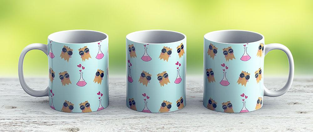 Dr Flug Pattern - Love Version - Ceramic Coffee Mug - Gift Idea For Family And Friends