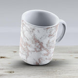 Elegant Luxury Faux Rose Gold White Stylish Marble - Ceramic Coffee Mug - Gift Idea For Family And Friends