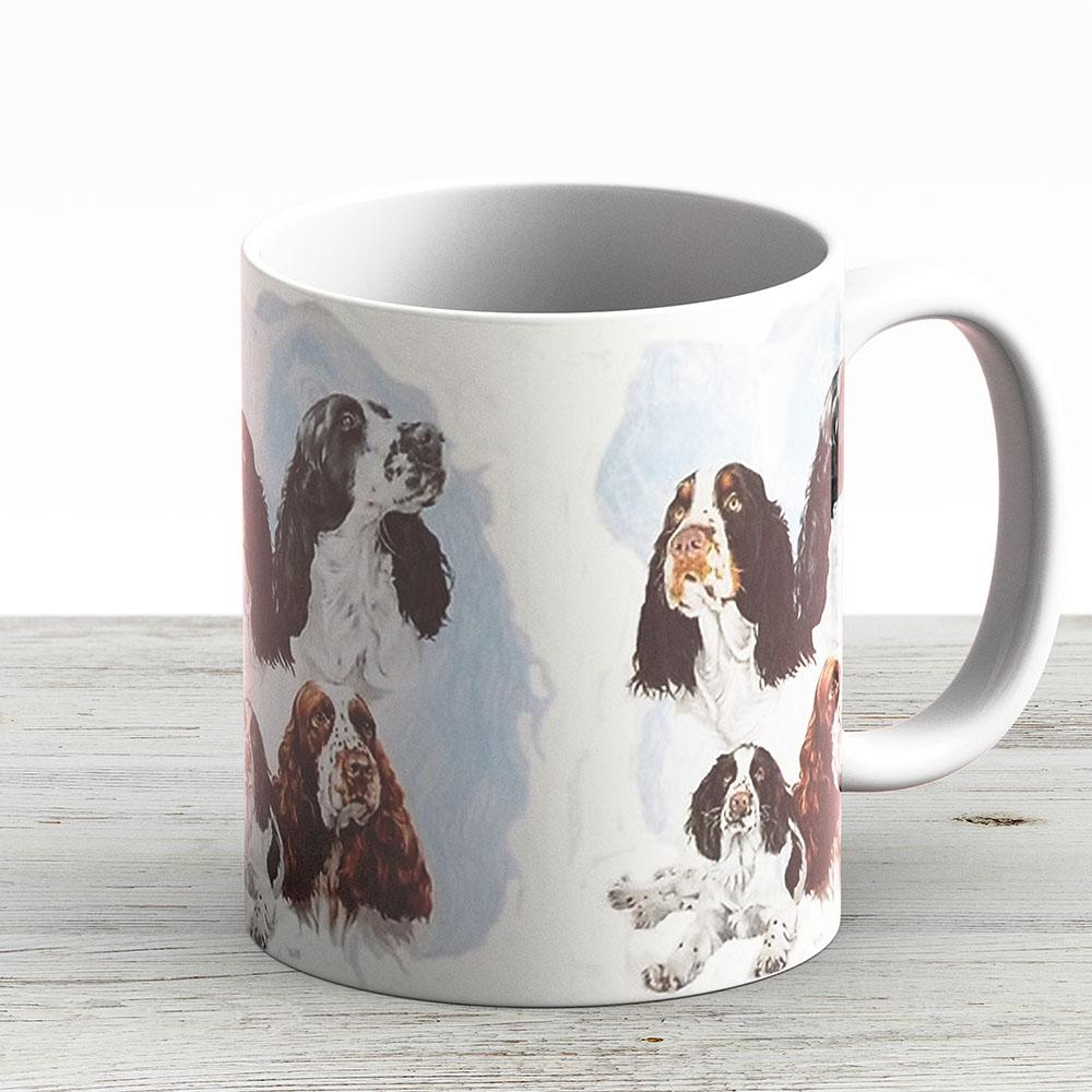 English Springer Spaniel Medley - Ceramic Coffee Mug - Gift Idea For Family And Friends