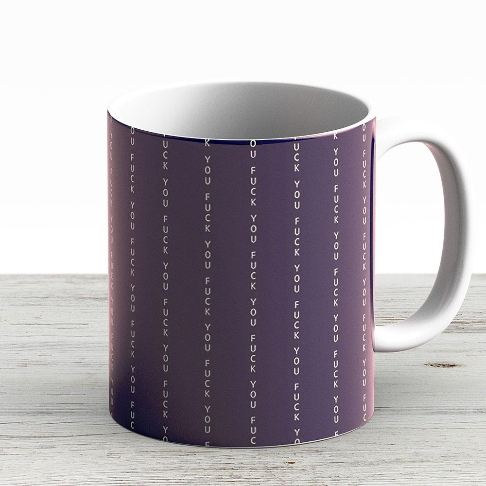 Fuck You Pinstripe - Ceramic Coffee Mug - Gift Idea For Family And Friends