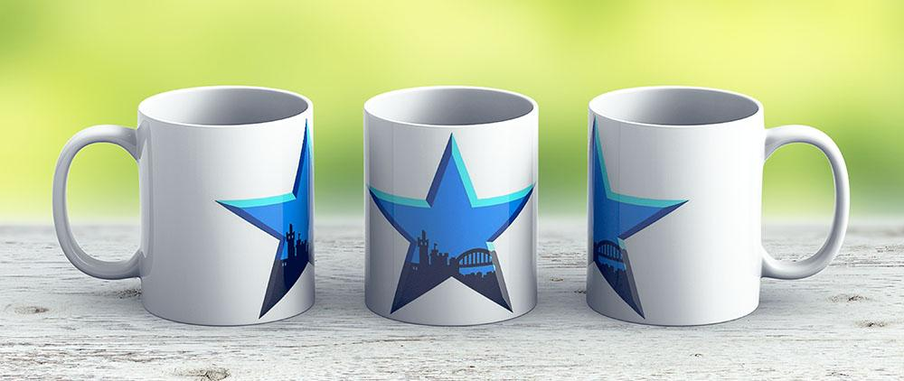 Geordie Star - Ceramic Coffee Mug - Gift Idea For Family And Friends
