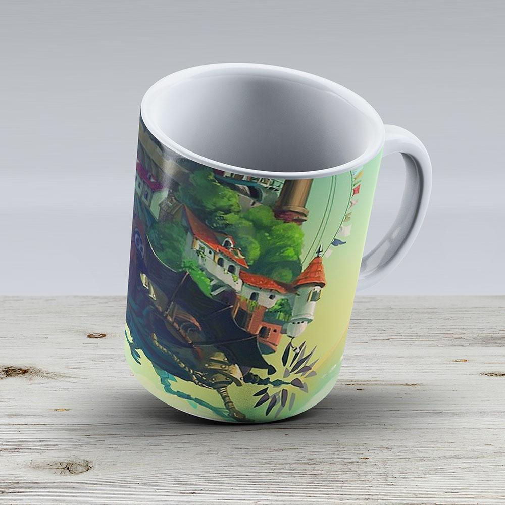 Howls Moving Castle Hayao Miyazaki - Ceramic Coffee Mug - Gift Idea For Family And Friends