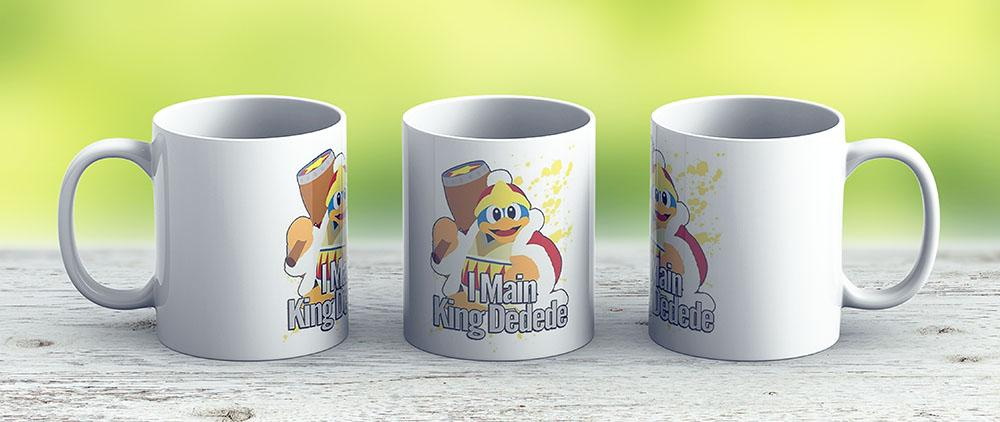 I Main King Dedede - Super Smash Bros - Ceramic Coffee Mug - Gift Idea For Family And Friends