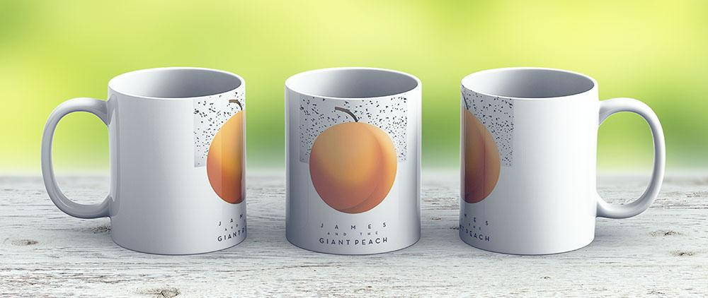 James The Giant Peach - Ceramic Coffee Mug - Gift Idea For Family And Friends