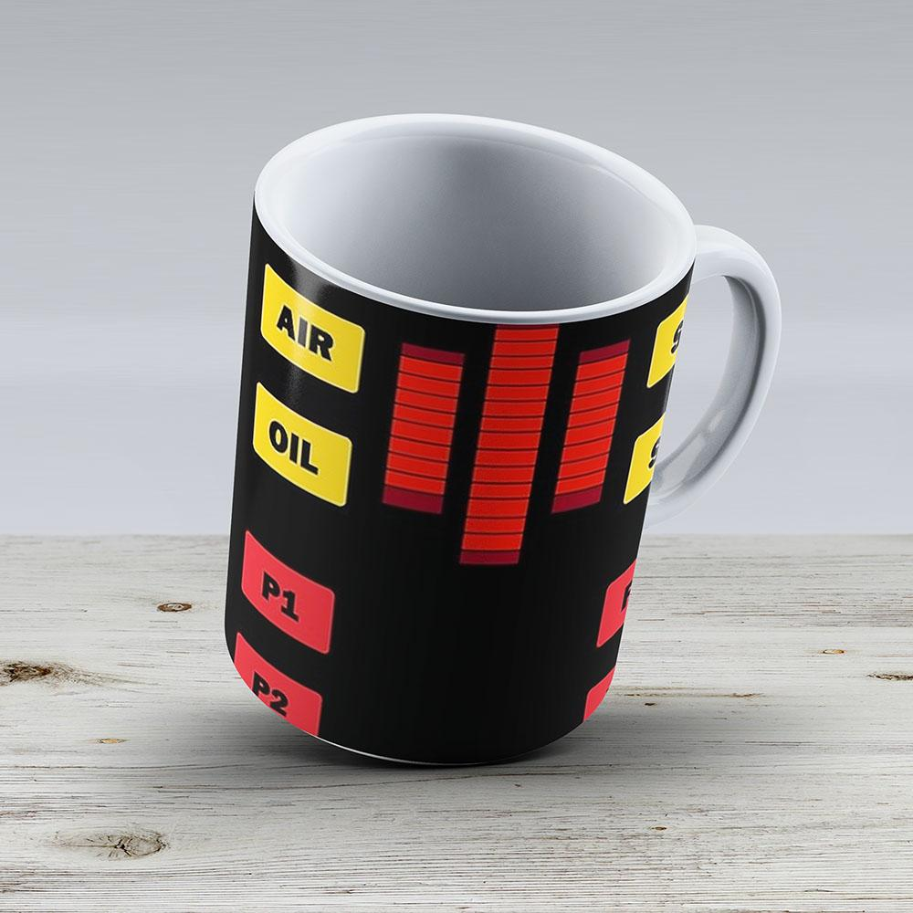 Knight Rider Dashboard - Ceramic Coffee Mug - Gift Idea For Family And Friends