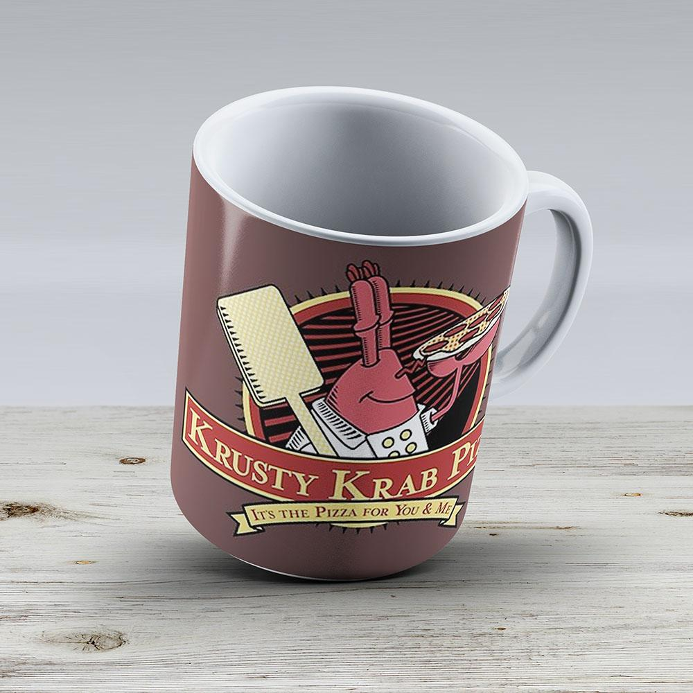 Krusty Krab Pizza - Ceramic Coffee Mug - Gift Idea For Family And Friends