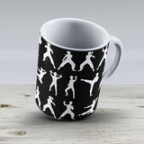 Kung Fu - White - Ceramic Coffee Mug - Gift Idea For Family And Friends